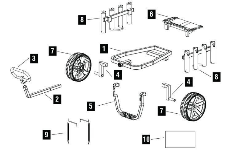 garden cart axle kit